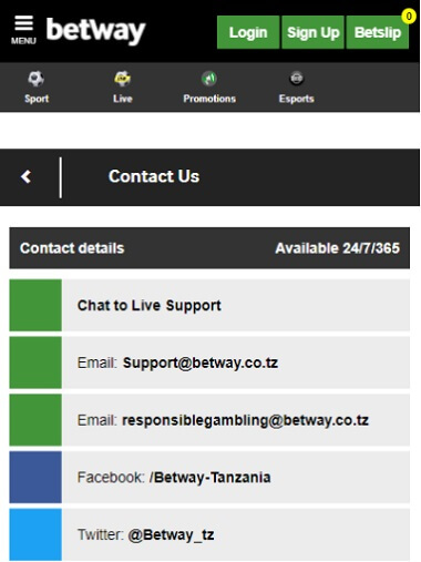 Betway Contact